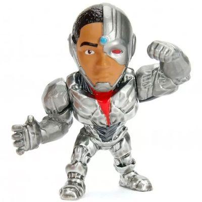 Figura-Colecionavel---6-Cm---Metal-Die-Cast---DC-Comics---Liga-da-Justica---Cyborg---DTC