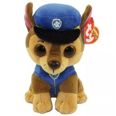 Pelucia---25-Cm---Ty-Beanie-Boss---Patrulha-Canina---Chase---DTC