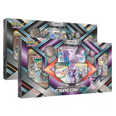 Kit-com-2-Jogos-Pokemon---Colecao-Premium---Umbreon-GX-e-Espeon-GX---Copag