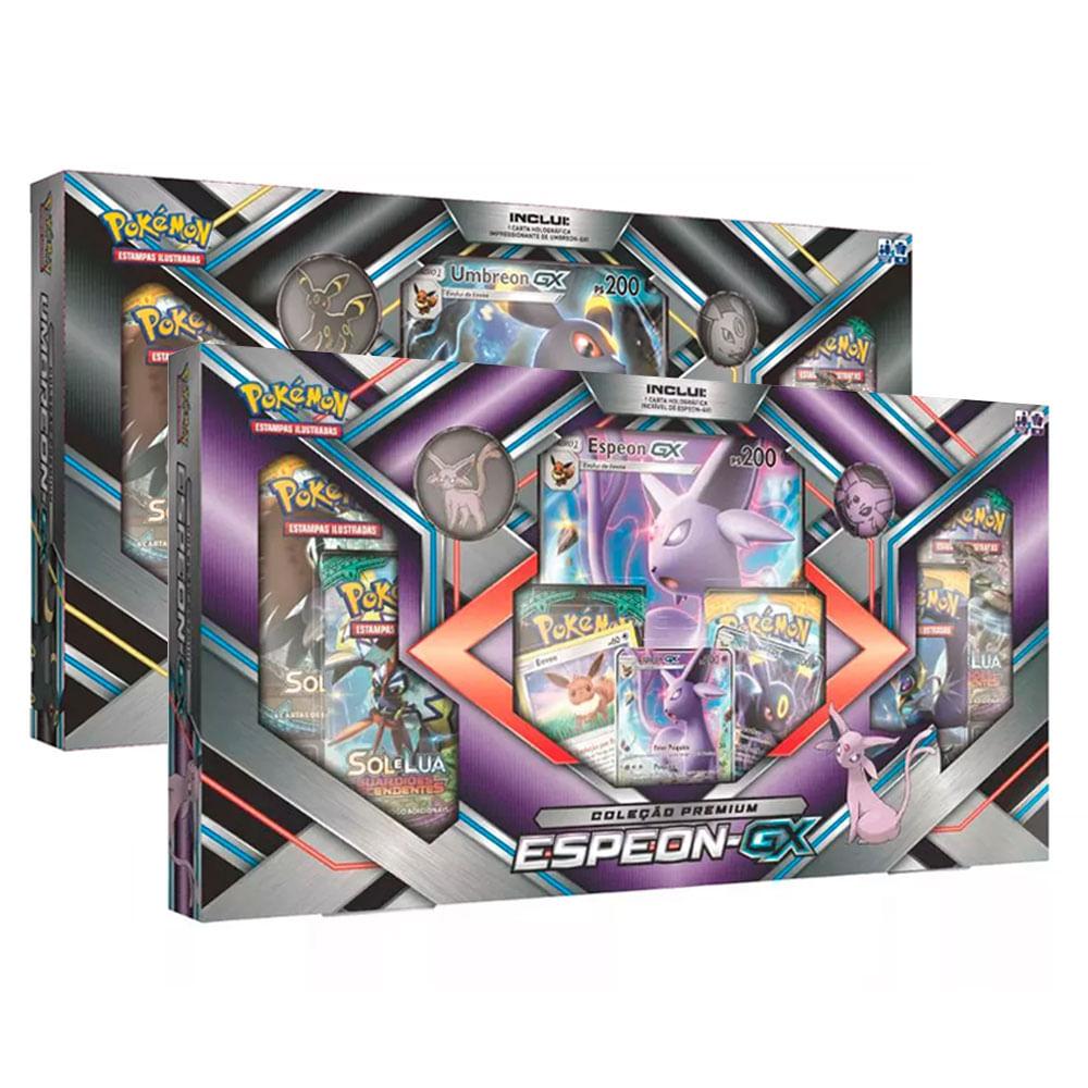 Kit com 2 Jogos Pokémon - Coleção Premium - Umbreon-GX e Espeon-GX - Copag