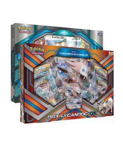 Kit-com-Box-Pokemon---Colecao-Premium---Box-Lycanroc-GX-e-Box-Snorlax-GX---Copag