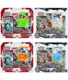 Kit-Deck-Pokemon-Sol-e-Lua---Invasao-Carmim-e-Ultra-Prisma---Lucario---Porygon-Z---Decidueye---Vulpix---Copag