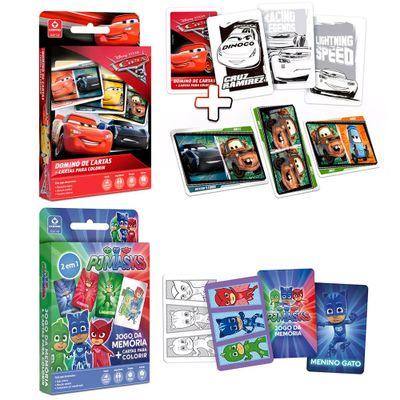 Kit-de-Jogos---Domino-de-Cartas-para-Colorir-e-Jodo-da-Memoria-para-Colorir---Copag