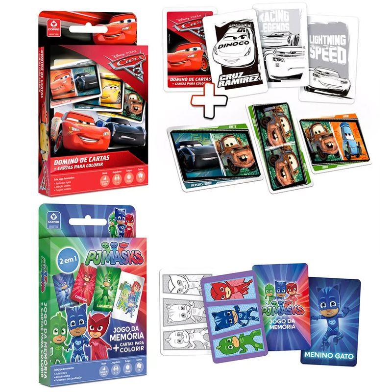 3405a0e593 Kit de Jogos - Dominó de Cartas para Colorir e Jodo da Memória para Colorir  - Copag - Ri Happy Brinquedos