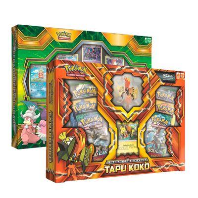 Kit-Jogos-Pokemon---Colecao-Legado-de-Evolucao-e-Box-Deluxe-com-Miniatura---Copag