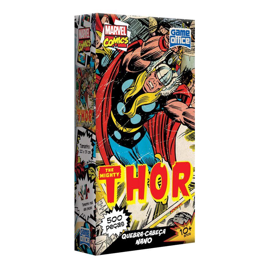 Quebra-Cabeca-Nano---500-Pecas---Marvel-Comics---Avengers---Thor---Toyster---Disney---Frente