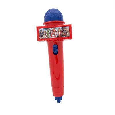 Microfone-Infantil-com-Eco-e-Luz---Vermelho---Disney---Marvel---Avengers---Toyng---Frente