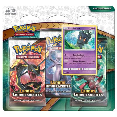 Deck-Pokemon-Triple-Pack---Lendas-Luminescentes---Marshadown---Copag
