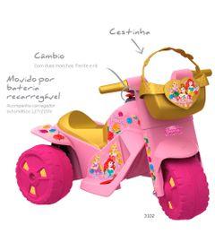 Moto-Eletrica-6V---Disney---Princesas---Bandeirante