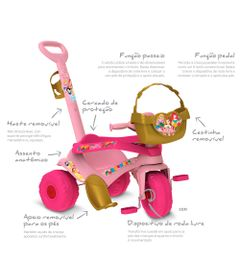 Triciclo-de-Passeio---Velocipede---Disney---Princesas---Bandeirante