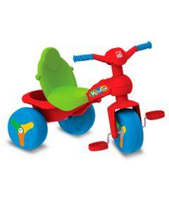 Triciclo-Veloban---Vermelho-e-Verde---Bandeirante