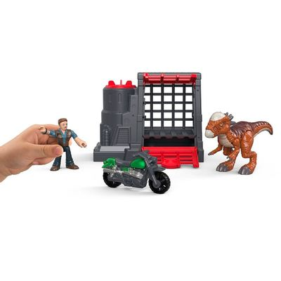 Figura-Basica-Imaginext---Jurassic-World-2---Captura-do-Dinossauro-Veloz---Fisher-Price