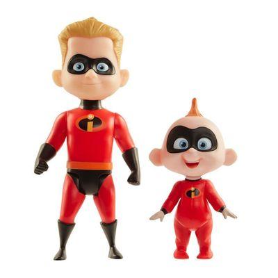 Figuras-Articuladas---30-cm---Disney---Pixar---Os-Incriveis-2---Flecha-e-Zeze_Frente