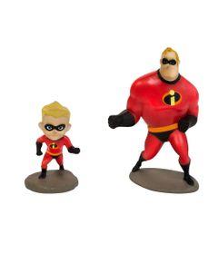 Mini-Figuras---Disney---Pixar---Os-Incriveis-2---Sr-Incrivel-e-Flecha---Sunny_Frente