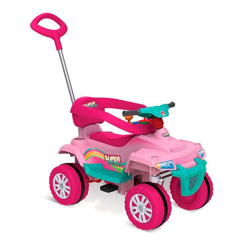 6a10e2de7646a Mini Veículo de Passeio Smart - Superquad com Pedal - Rosa - Bandeirante -  Ri Happy Brinquedos