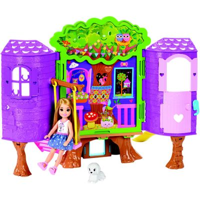 Playset-e-Boneca---Barbie-Club---Casa-da-Arvore-da-Chelsea---Mattel