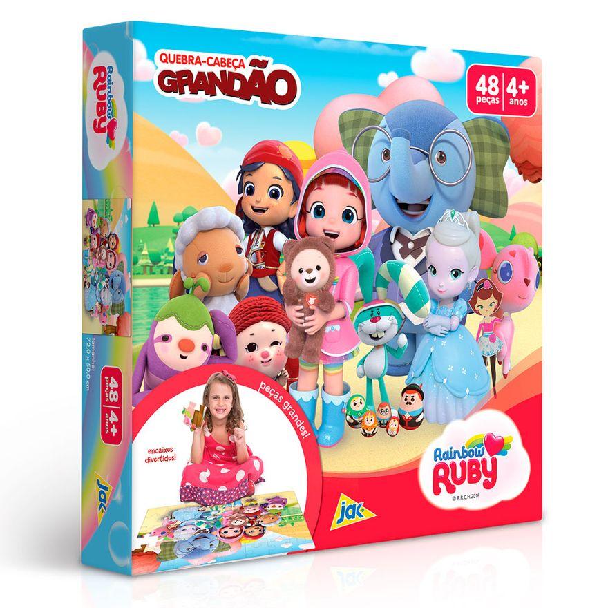 Quebra-Cabeca-Grandao---Rainbow---Ruby---48-Pecas---Toyster