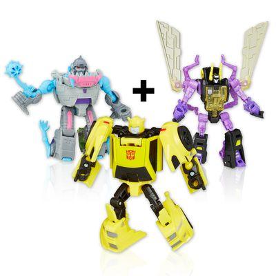 Kit-3-Figuras-Transformers---Legens-Titan-Return---Kickback---Gnaw-e-Bumblebee---Hasbro