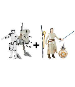 Kit-de-Veiculo-e-Figuras-Colecionaveis---Disney---Star-Wars---Assalut-Walker---Rey-e-BB8---Hasbro