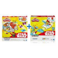 Kit-Massas-de-Modelar---Play-Doh---Disney---Star-Wars---2-Veiculos-e-Personagens---Hasbro