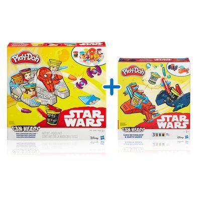 Kit-Massas-de-Modelar---Play-Doh---Disney---Star-Wars---3-Veiculos-e-Personagens---Hasbro