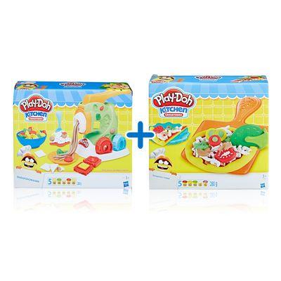 Kit-Massas-de-Modelar---Play-Doh---Festa-das-Massas---Fazendo-Macarrao-e-Pizzas---Hasbro