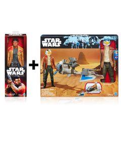 Kit-Veiculo-e-Figuras---Disney---Star-Wars---Finn-Jakku-e-Poe-Dameron---Hasbro