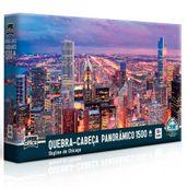 Quebra-Cabeca-Panoramico---Skyline-de-Chicago---1500-Pecas---Toyster