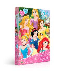 Quebra-Cabeca-Metalizado---Disney---Princesas---100-Pecas---Toyster