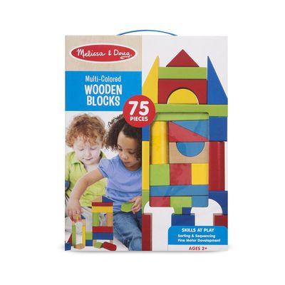 Blocos-de-Montar---75-Pecas---Madeira---New-Toys