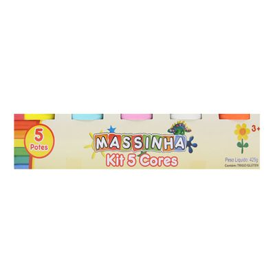 Massa-de-Modelar---Kit-5-Cores---Massinha