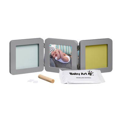 Conjunto-Decorativo---Porta-Retratos---My-Baby-Touch---Double-Print---Grey---Baby-Art