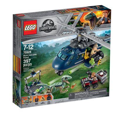 LEGO-Jurassic-World---Perseguicao-Helicoptero-Azul---75928