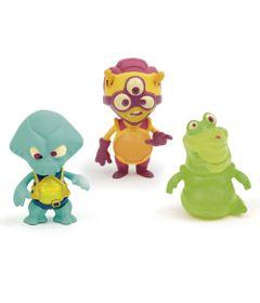 Mini-Figuras-Brilhantes---Exogini---Captain-Parrot---Charlie-Pilot---Louisle-Slug---Candide