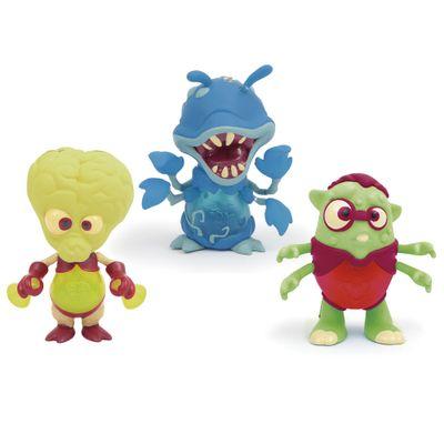 Mini-Figuras-Brilhantes---Exogini---Doc-Mcflies---Flower-Ferox-e-Nerdy-Ned---Candide