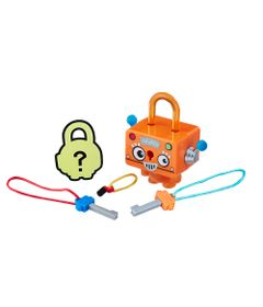 Mini-Figura---Cadeado-Surpresa---Lock-Stars---Robo-Quadrado-Laranja---Hasbro