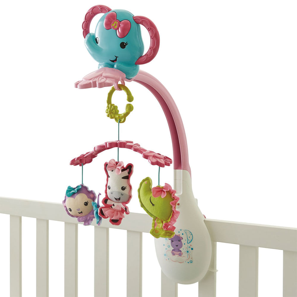 Móbile - Amiguinhas Animadas - Rosa - Fisher-Price
