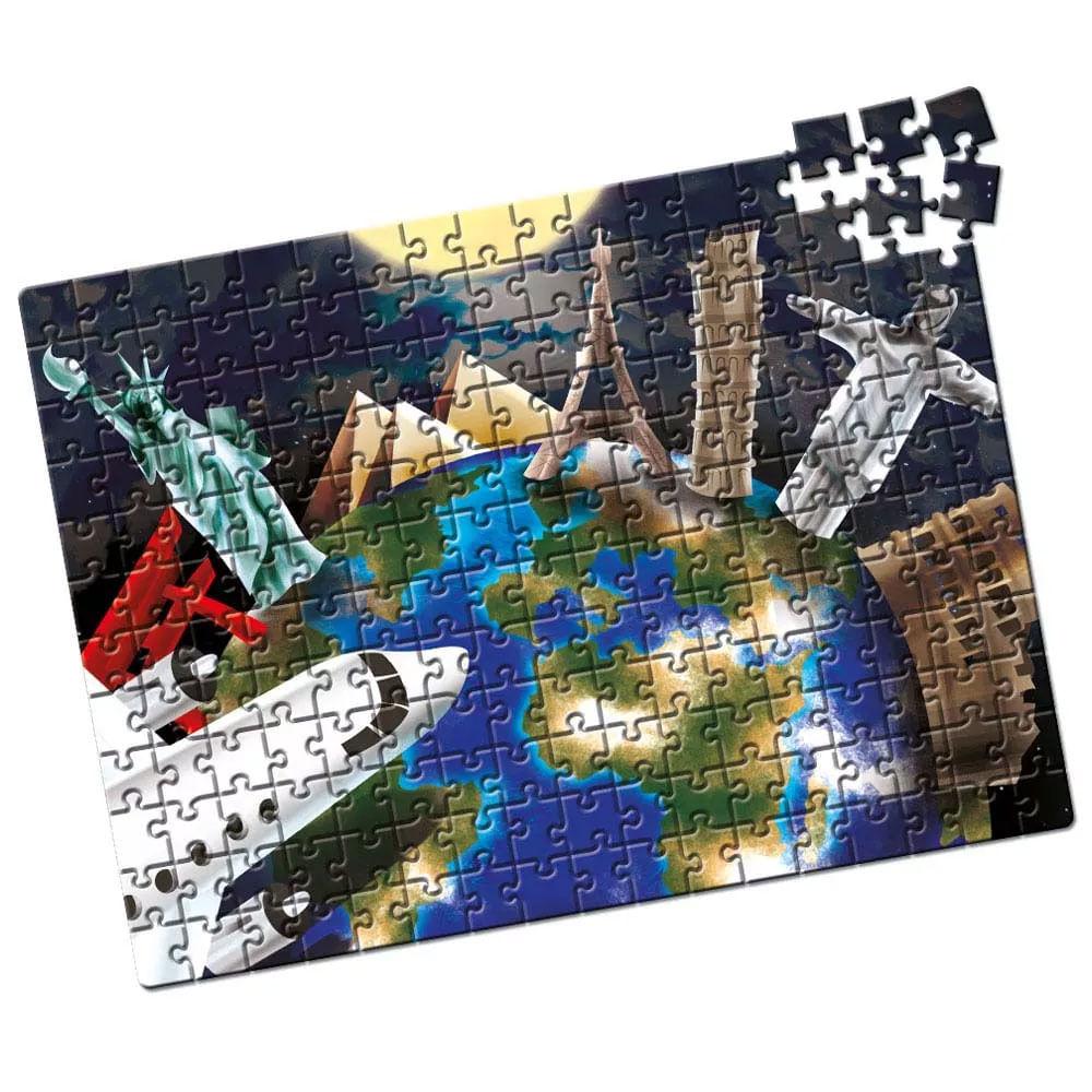 Quebra-Cabeça - 200 Peças - Capitais do Mundo - Estrela