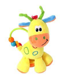 Chocalho-de-Pelucia---17-Cm---Girafinha-do-Bebe---Amarela---Love