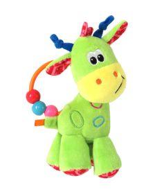 Chocalho-de-Pelucia---17-Cm---Girafinha-do-Bebe---Verde---Love