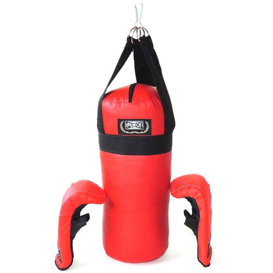 Conjunto-de-Boxe---Junior---Saco-de-Pancada-e-Luvas-Infantil---Punch