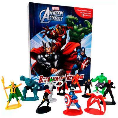 Livro---Disney---Marvel---Vingadores---Assemble---Batalhas-Incriveis---Melhoramentos
