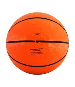 Mini-Bola-de-Basquete---12-cm---Laranja-e-Preto---Pratique-Net