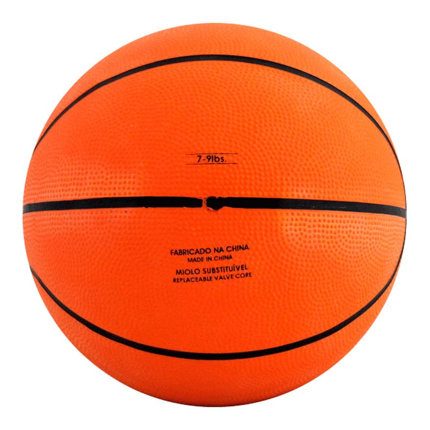 Mini-Bola-de-Basquete---14-cm---Laranja-e-Preto---Pratique-Net