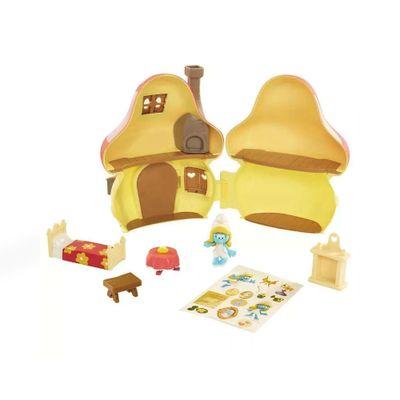 Playset-e-Mini-Figuras---Smurfs---Mansao-da-Smurfette_Frente