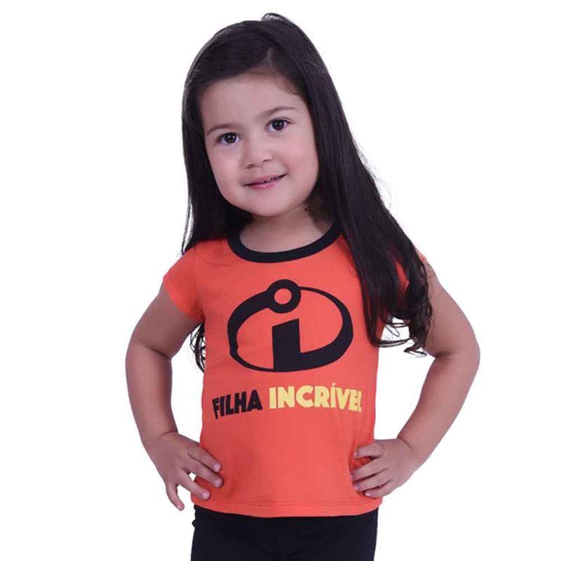 Camiseta Infantil - Manga Curta - Vermelha - Filha Incrível - Os Incríveis  2 - Disney - Ri Happy Brinquedos 985c8c4a3d084