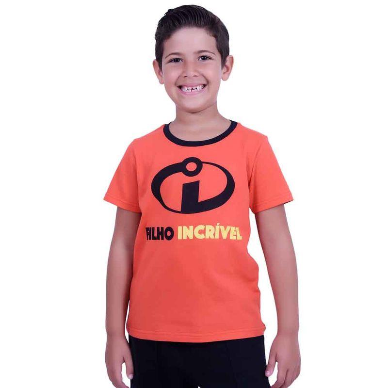Camiseta Infantil - Manga Curta - Vermelha - Filho Incrível - Os Incríveis  2 - Disney - Ri Happy Brinquedos aa80a9d0fc68c