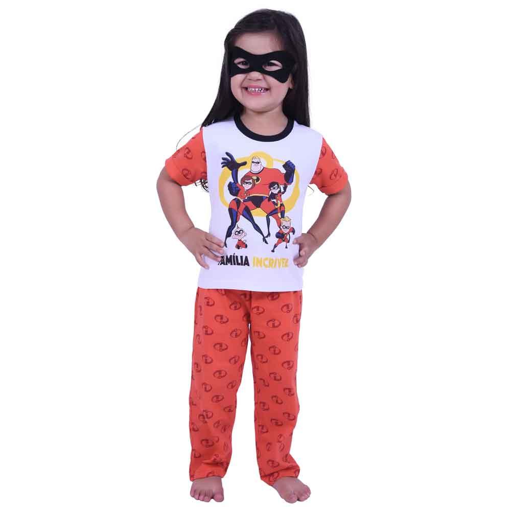 Pijama Manga Curta - Com Máscara - Disney - Pixar - Os Incríveis 2 - Disney
