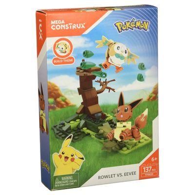 Blocos-de-Montar---Mega-Construx---Playset-de-Batalha---Pokemon---Bauz-Vs-Evoli---Mattel