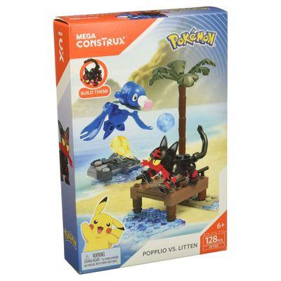 Blocos-de-Montar---Mega-Construx---Playset-de-Batalha---Pokemon---Robball-Vs-Flamiau---Mattel